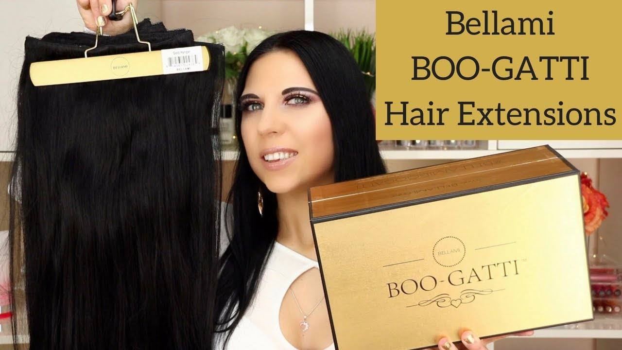 Bellami Boo Gatti Hair Extensions Unboxing First Impressions Try