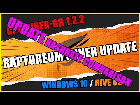 CPU MINING CPUMINER-GR 1.1.9 vs 1.2.2 Hashrate Comparison | Raptoreum