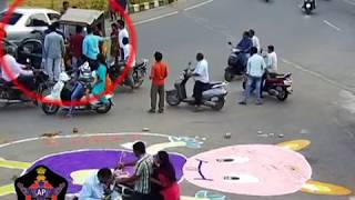AUTO Vs CAR Accident | Caught By CCTV in Tirupati | Live Accidents in India