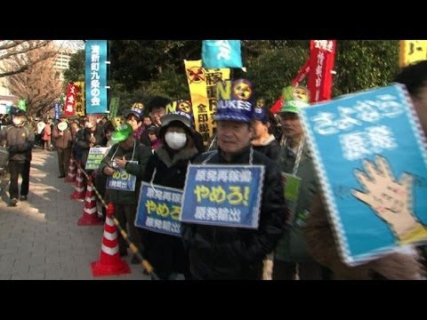 Tens of thousands stage anti-nuclear rally in Tokyo