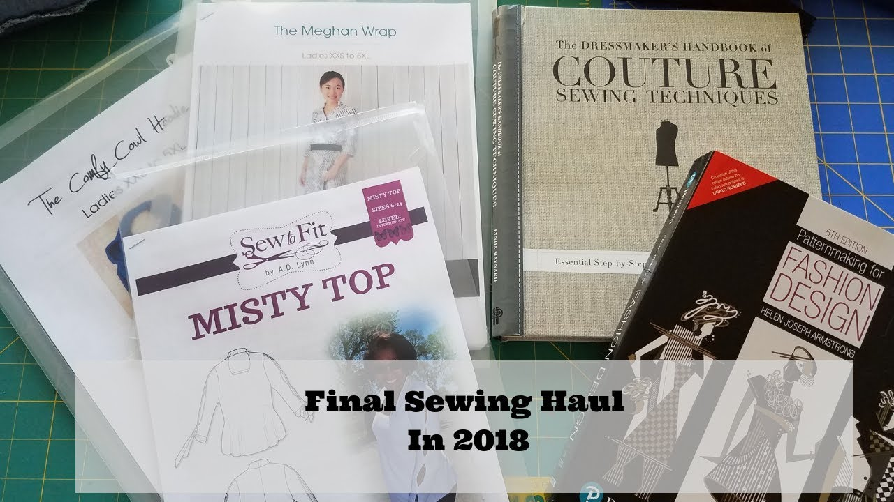291]Sewing| Final Sewing Haul In 2018 + Patterns + Sewing Books ...
