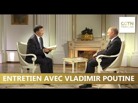 Album photo de l'interview de Vladimir Poutine au Kremlin à Moscou