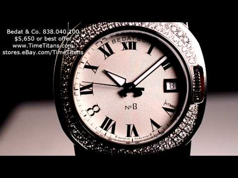 Bedat & Co. 838.040.100 No. 8 Ladies Automatic Full Factory 92 VVS Diamond Bezel 34mm