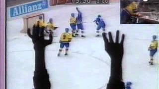 Ishockey-VM 1991-04-20: Sverige-Finland (SWE-FIN) 4-4