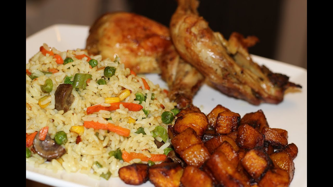 How to make nigerian fried rice nigerian food african for Different meals to make with chicken