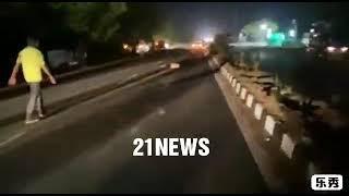 TelanGana Ke Finance Minister T Harish Rao  Ke Convoy SiddiPet  Ke  Duddeda  X  Road  Per