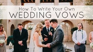 How to write your personal wedding vows   tips for writing your wedding vows