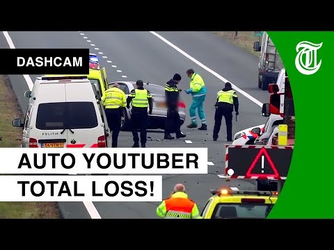 Kijk mee met 'lachgas-crash': 'Het gaat NU fout!' - DASHCAM #125