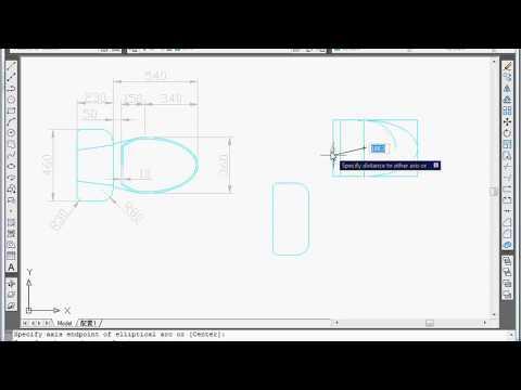 AutoCAD Exercise - Draw A Toilet Tutorial