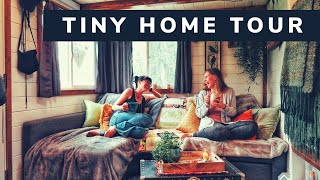 TINY HOUSE TOUR! SOLO WOMAN LOVES HER TINY HOME :)
