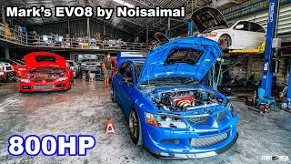 Mark's Street Evolution 8 800HP Tuned by noisaimai