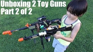 Unboxing 2 Toy Guns for Kids with lights, sound effects and vibration (2 of 2)
