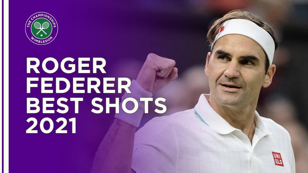 Roger Federer Best Shots Wimbledon 2021