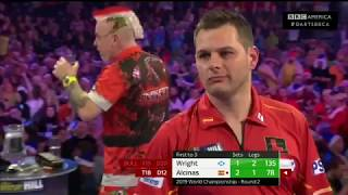 Best Throws - Peter Wright🏴 v Toni Alcinas🇪🇸| World Darts Championship 2018-19 | BBC America