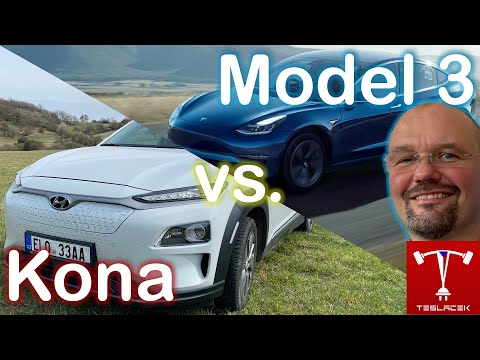 #205 Hyundai Kona 2019 vs. Tesla Model 3 LR 2019 | Teslacek