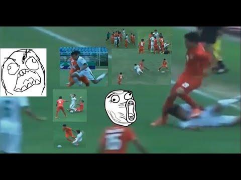 Kasar...Permainan brutal myanmar vs indonesia u18 || Aff U18 2017