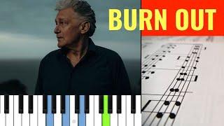 🎼 Burn Out - Rainhard Fendrich (PIANO TUTORIAL + SCORE) 🎹