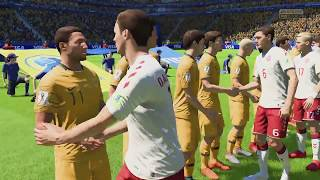 World Cup 2018 - Denmark vs Australia - Group C Full Match Sim (FIFA 18)