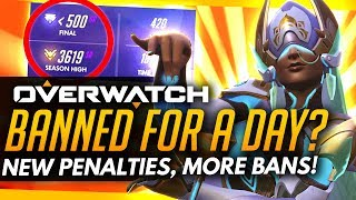 Overwatch | Troll Throws 3000SR, Banned for ONE DAY - New Punishment Changes!