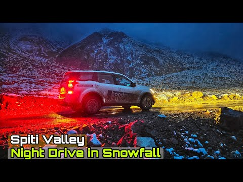 EP19 : Night Drive in heavy snowfall | World's Most Deadliest Roads | #SpitiValley