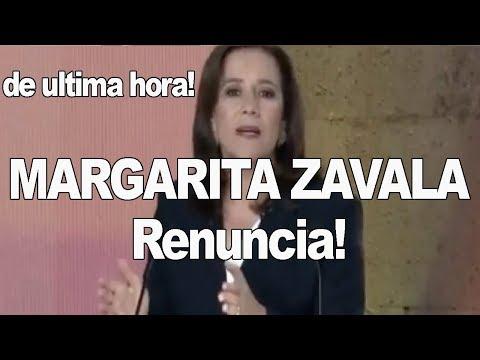 DE ULTIMA HORA!!   Margarita Zavala Renuncia a la Candidatura!