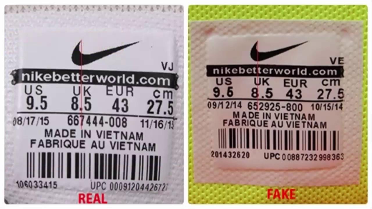 [CHECKgiày] KING SHOES – Hướng dẫn cách phân biệt TEM giày Nike Real (thật) và Fake (giả)