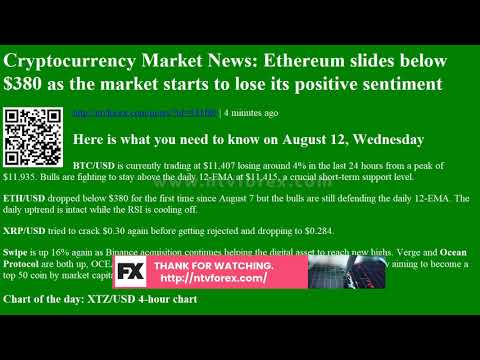 Cryptocurrency Market News: Ethereum slides below $380 as the market starts to lose its positi…