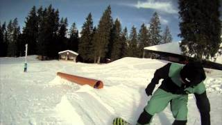 Trickspecial Snowboarding BS 180 Hardway 50-50 360 out / Half Cab 50-50 BS 360 out