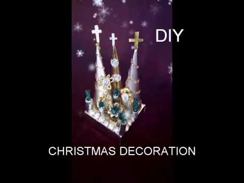 How to make Christmas tree/foil paper craft work/at home.
