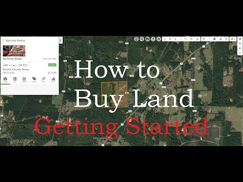 How to Buy Land - Getting Started