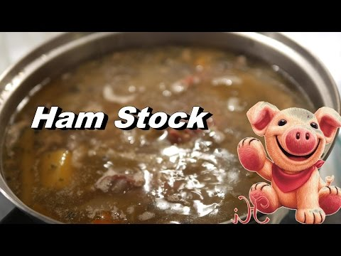 Ham Stock Recipe  - Using The Ham Bone From Holiday Dinners (or Ham Hocks)