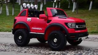 видео Детский электромобиль JEEP LONG BBH 1388 на резиновых колесах