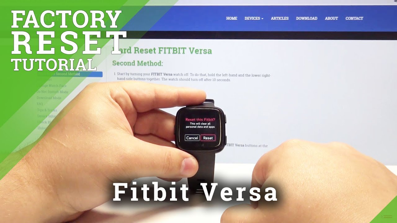 How to Factory Reset Fitbit Versa - Wipe All Data