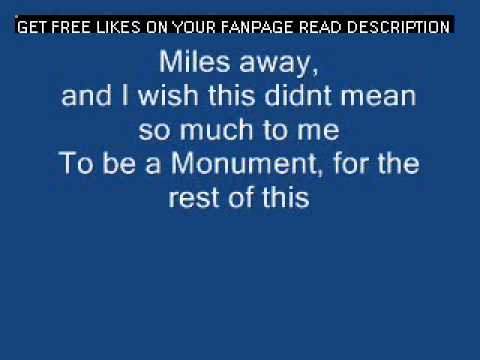 A Day To Remember Monument LYRICS