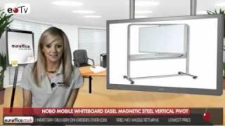 Nobo Mobile Whiteboard Easel Magnetic Steel Vertical Pivot