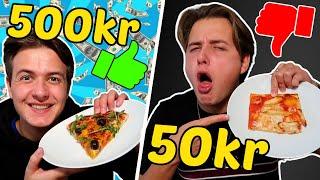 50kr VS 500kr PIZZA!