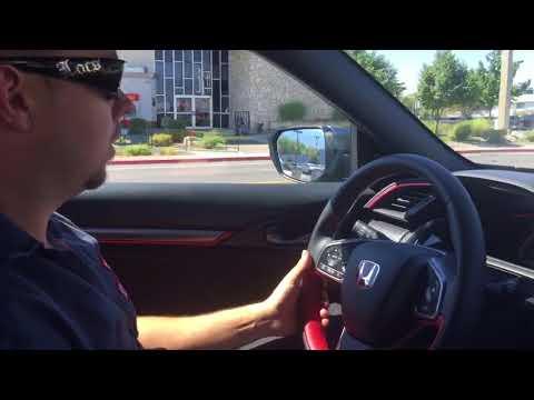 2017 Civic Type R maiden voyage down Kietzke Ln en route to first freeway drive.