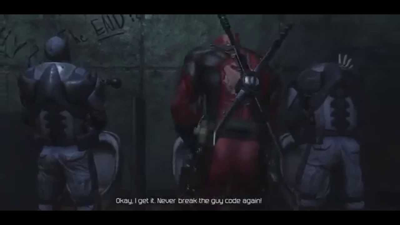 Deadpool Pee Scene Deadpool Game Cutscenes Youtube