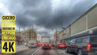 Cicero Avenue : Driving in Westside Chicago 4K:  Streets of the Americas