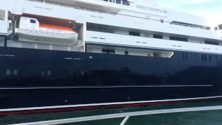 Mega yacht 'Octopus' Sydney harbour 2015.