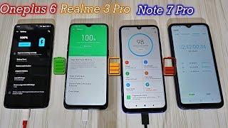 Realme 3 Pro vs Note 7 Pro vs Oneplus 6 Charging Speed Test : Aag Lga Di 🔥