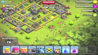 Clash of Clans - Attacking with the New Unit, the Valkyrie - Dark Elixir Troops