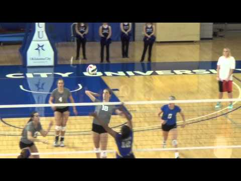 OCU Volleyball Highlights vs. Southeastern - Sept. 18, 2014