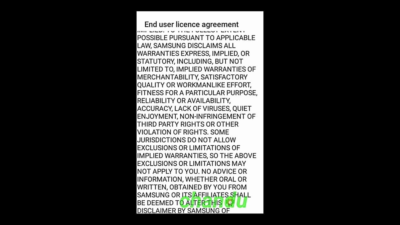 End User License Agreement For Samsung Mobile Youtube