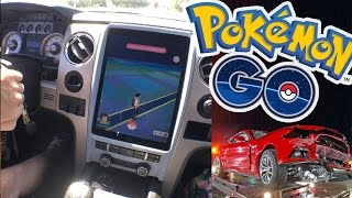 Pokemon Go CAR CRASH!!