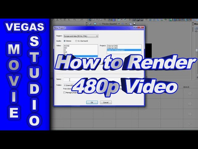 render 720p sony vegas 11 trial
