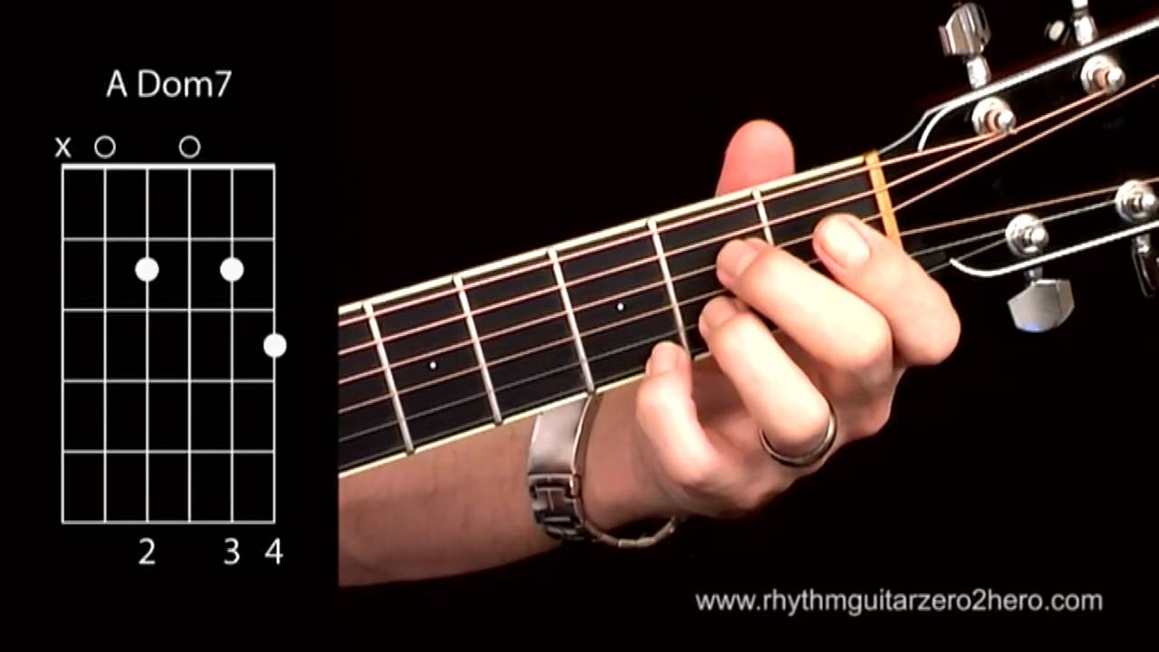 Learn Guitar Chords A7 Dominant 7 Beginner Acoustic Guitar