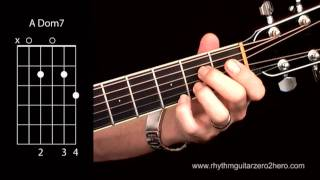 learn guitar chords a7 dominant 7 beginner acoustic guitar lessons