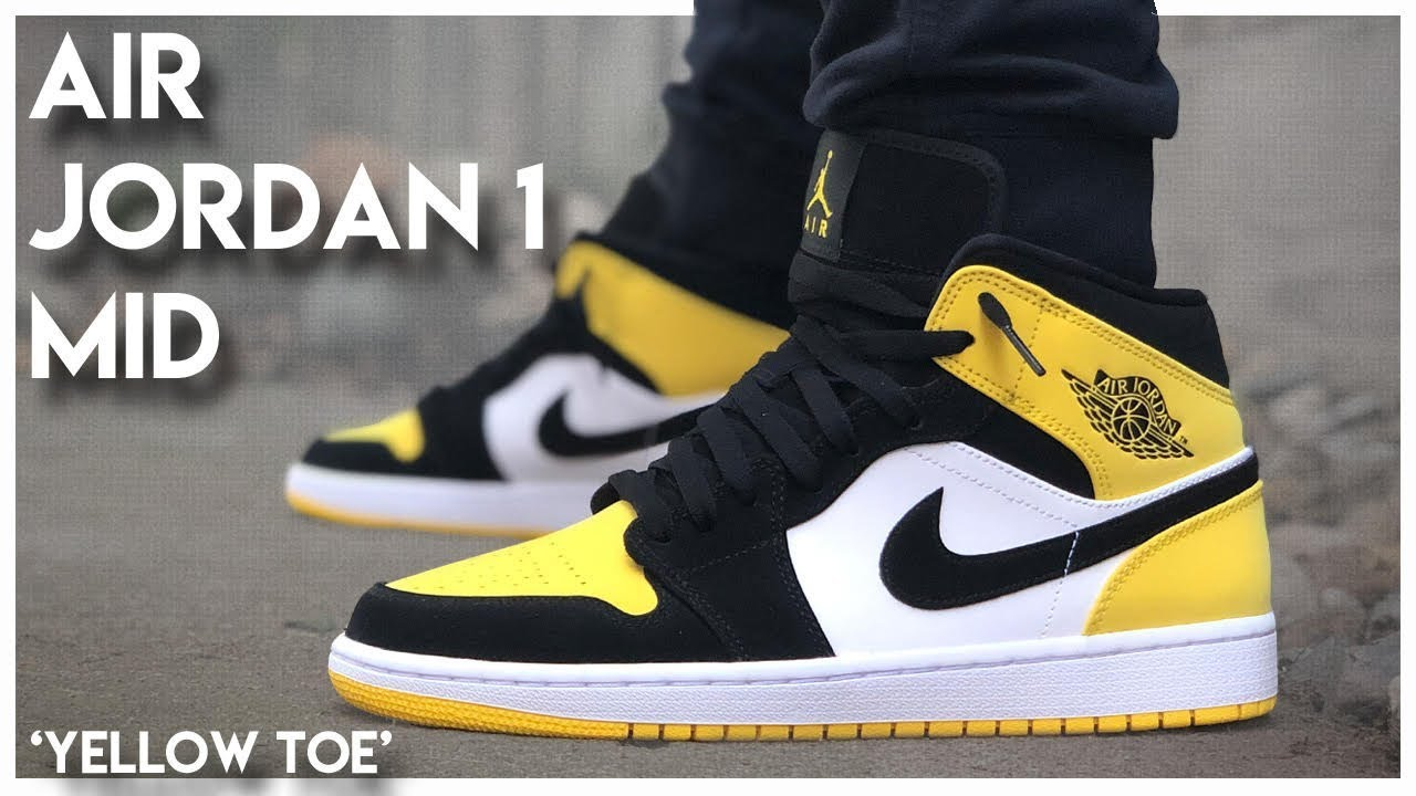 Malgastar Presentador superstición  Air Jordan 1 Mid 'Yellow Toe' - YouTube