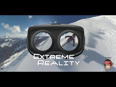 High Speed Ski Run in 4k 360 VR - Evolved Reality VR App